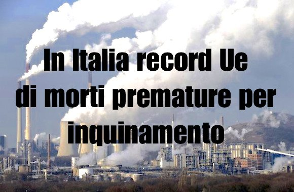 morti premature per inquinamento