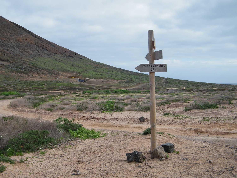 Strada per Playa de Las Conchas