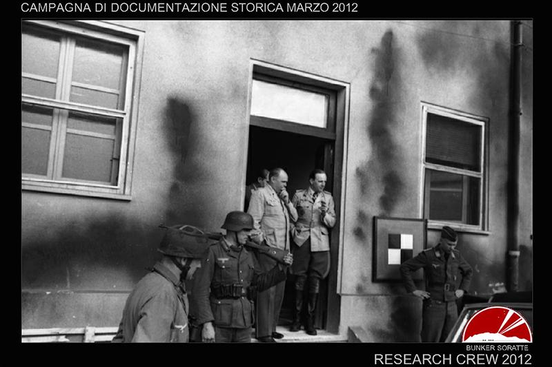fotografia del 1943 bunker monte soratte
