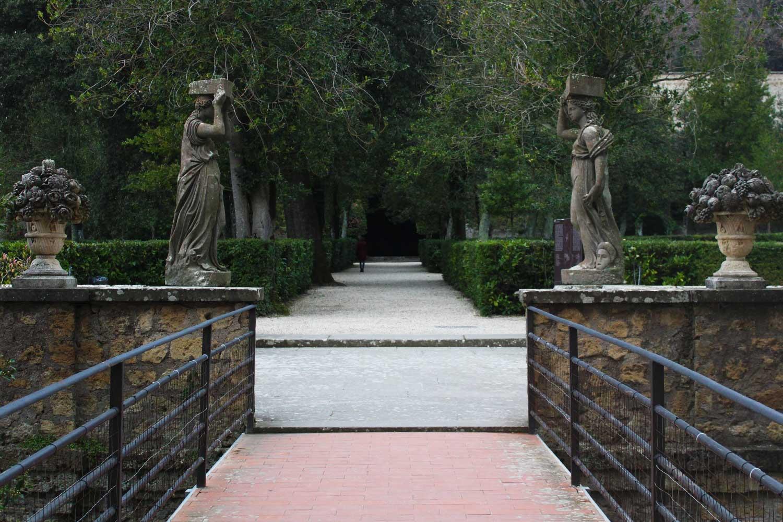 Ingresso ai giardini Palazzo Farnese Caprarola