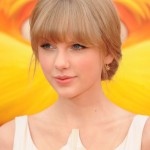 Taylor Swift capelli con frangia
