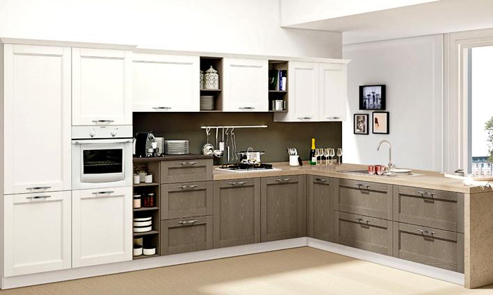 Cucina moderna o classica di colore bianco
