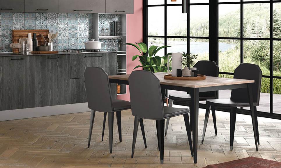 Le sedie in legno sono proposte in così tante varianti di essenza e di stile che non è difficile trovarne di adatte al modello di tavolo scelto. Sedie E Tavoli Per Cucine Moderne