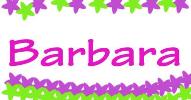 Nome di bambina Barbara