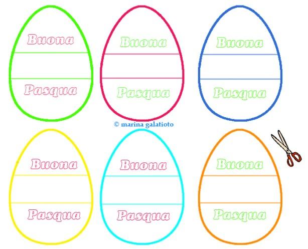 Le uova di Pasqua come segnaposto