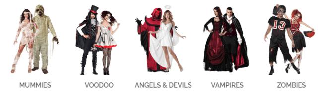 costume halloween coppia