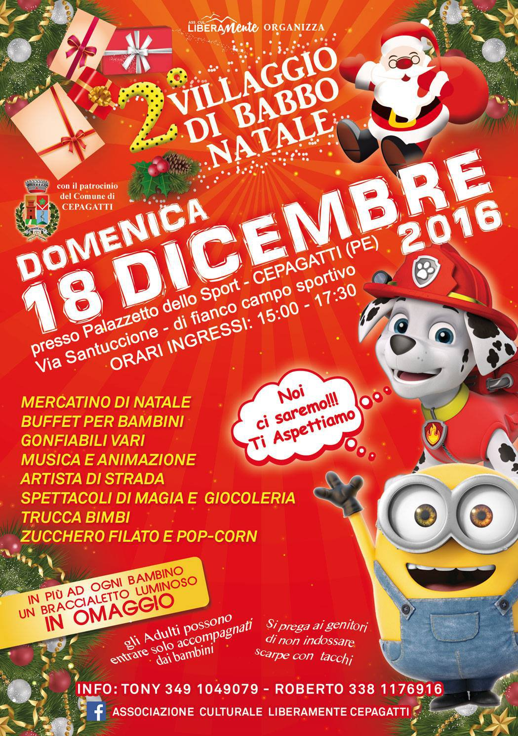 Villaggio di Babbo Natale a Cepagatti il 18 dicembre 2016  Il Mondo degli Eventi  Abruzzo