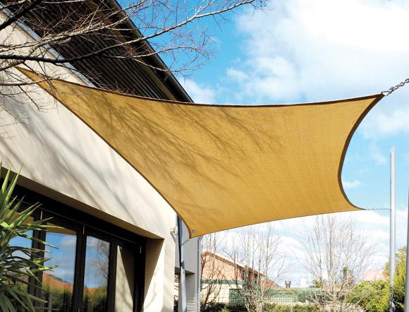 Tende da sole per esterno, tenda a vela triangolare 3.6 x 3.6m, vele ombreggianti impermeabili protezione uv con antivento traspirante, telo. Tende A Vela Personalizzare Gli Esterni Di Casa Con Una Copertura Di Design Mondofamiglia