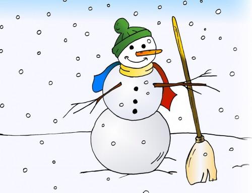 pupazzo di neve, filastrocche online
