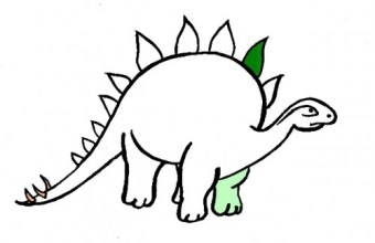 Disegni da colorare: Colora un Dinosauro