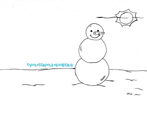 pupazzo di neve da colorare