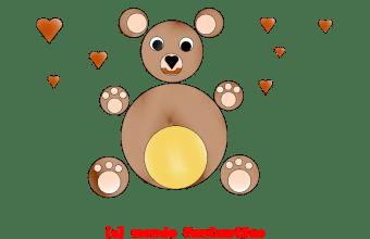 Giochi per bambini; crea un orsacchiotto con i cerchi