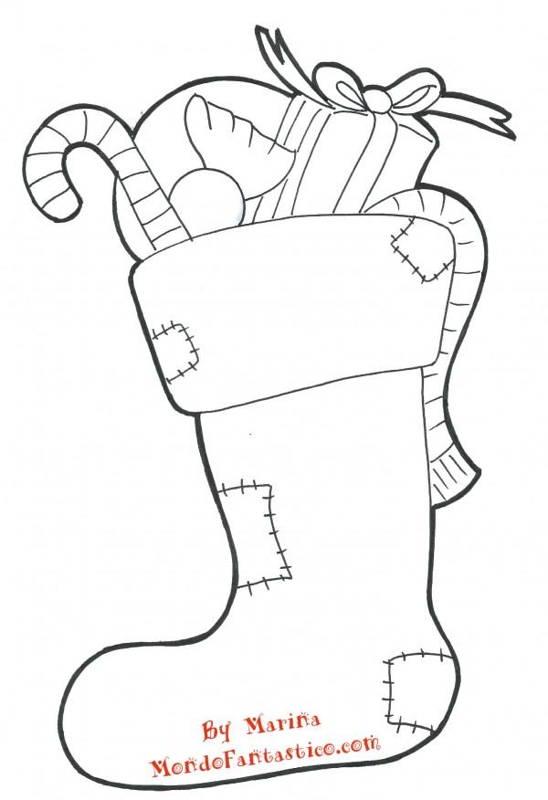 Disegni da colorare calza della befana for Befana disegno