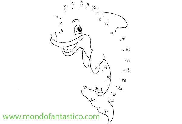 Unisci i puntini il delfino mondofantastico