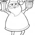 Immagini Babbo Natale da stampare