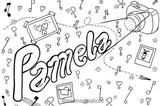 Pamela, colora il tuo nome