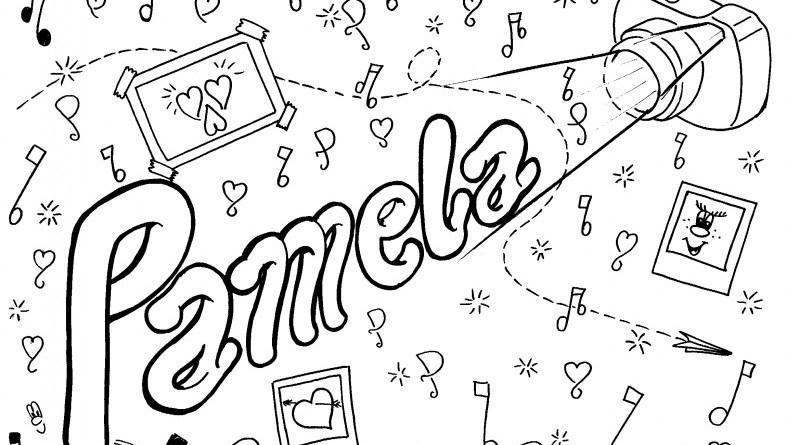 Pamela, stampa e colora il tuo nome
