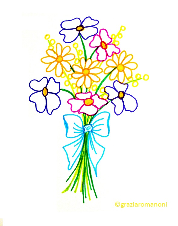 F come fiori di carta