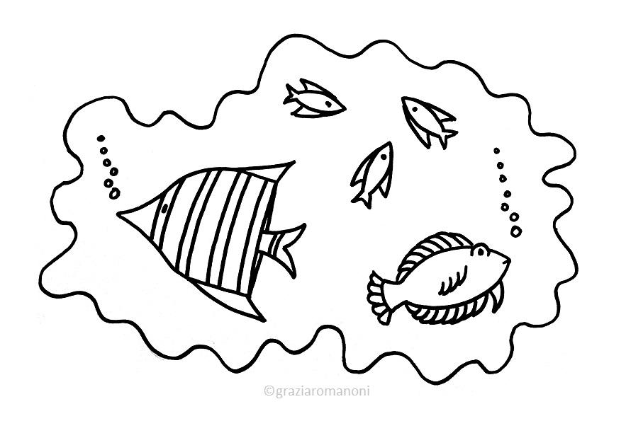 Pesci Da Colorare D Acqua Salata E Dolce Mondofantastico Com
