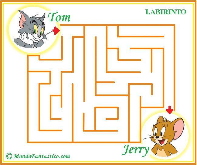 Labirinto per bambini micio tom e il topolino jerry for Tom e jerry da colorare