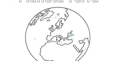 Pianeta Terra da colorare