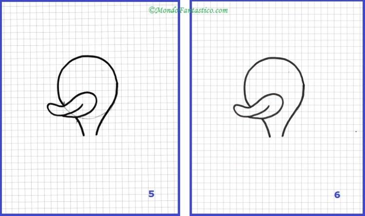Disegna Paperino - Immagini 5 e 6