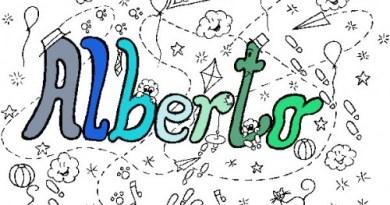 Colora il tuo nome Alberto colored