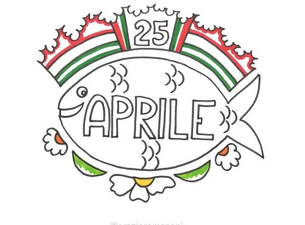 Calendari per bambini, colora aprile