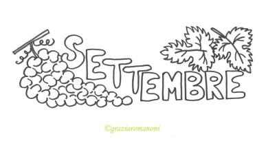 Calendari per bambini, colora settembre