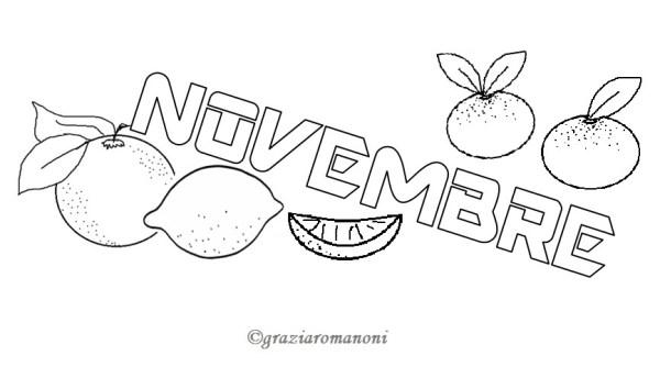 Calendari per i bambini, colora novembre