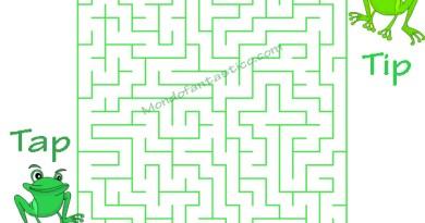 Labirinto con Le rane Tip e Tap