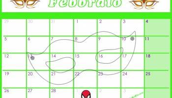 Calendario 2020 Da Colorare Per Bambini.Calendario Per Bambini Mese Di Febbraio Mondofantastico Com