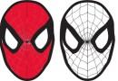 Carnevale, Maschera di Spiderman da colorare