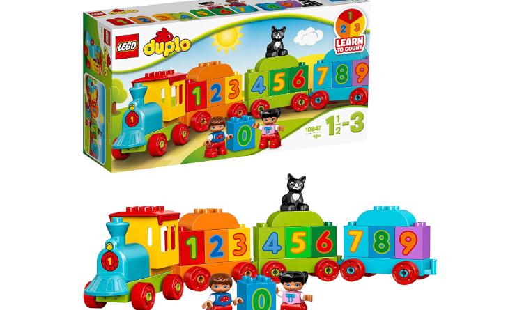 trenino Lego Duplo per imparare a contare con i giochi