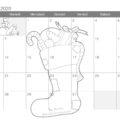 Calendario mese gennaio 2020 per bambini
