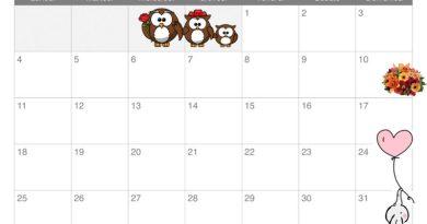 Calendario mese maggio per bambini