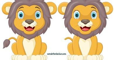 Gioco trova le differenze nel leone