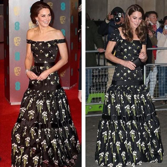 Kate Middleton ricicla l'abito da sera