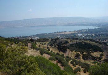 Israele dal Mar Morto a nord verso il mare di Galilea