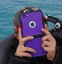 using an iPhone while diving in the water