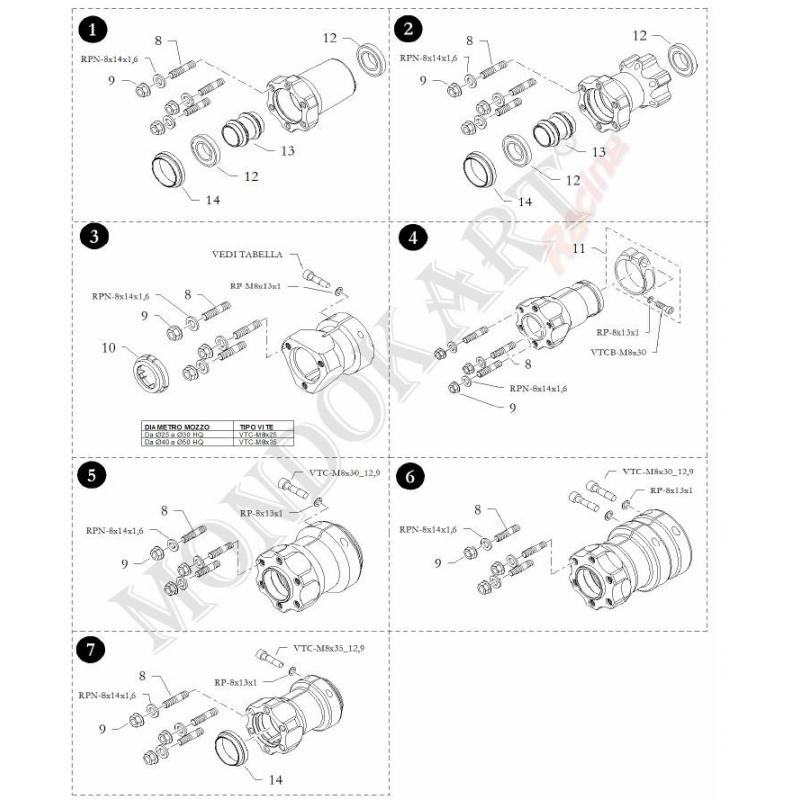 Front Wheel Hub S6 85-25 / 42 Magnesium BirelArt on Offer