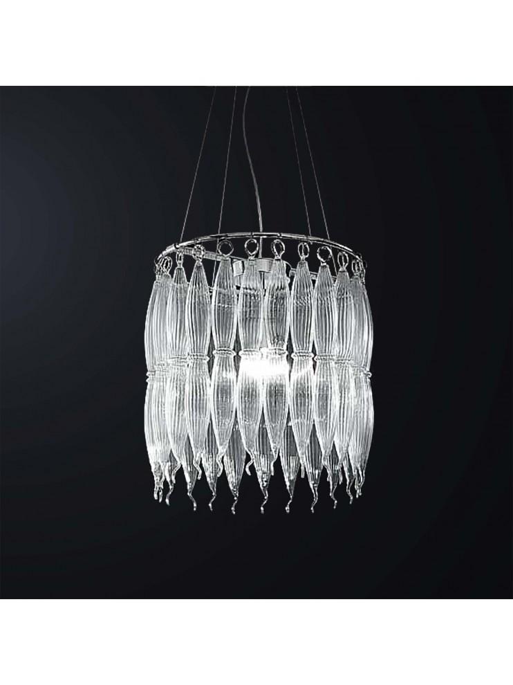 Oggetti unici in vetro di murano. Lampadario Moderno Design Vetro Murano 1 Luce Bga 3057 S1