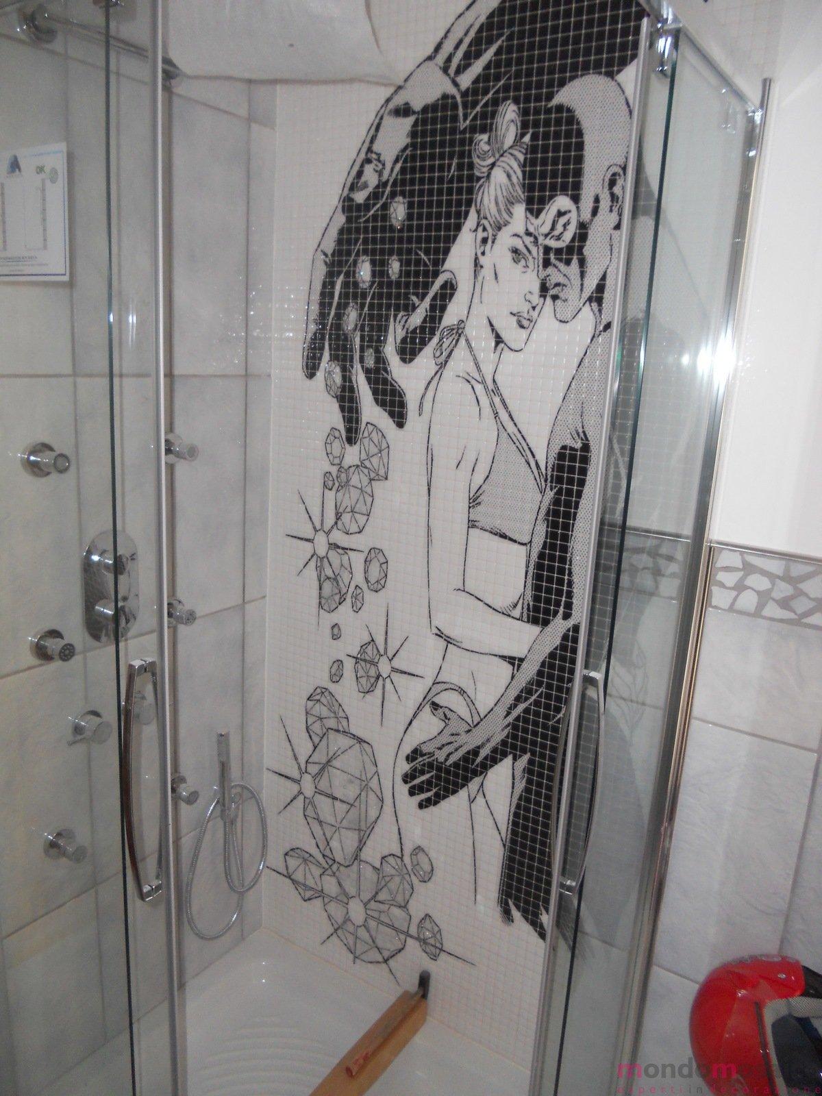 Diabolik  Eva in mosaico per doccia  Mondo Mosaico Italia