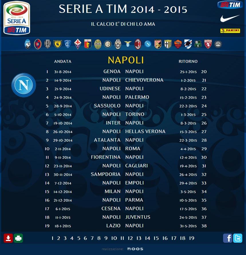 Calendario Napoli Orari.Ecco Il Calendario Del Napoli Con Date E Orari Fino A Marzo