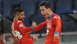 Callejon Insigne gol Lazio-Napoli