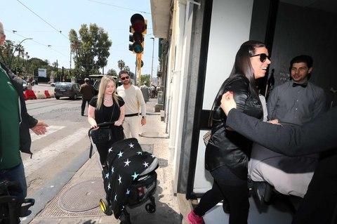 FOTOLe mogli degli azzurri a pranzo con Jacqueline De