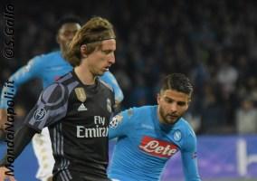 Napoli - Real Madrid modric insigne