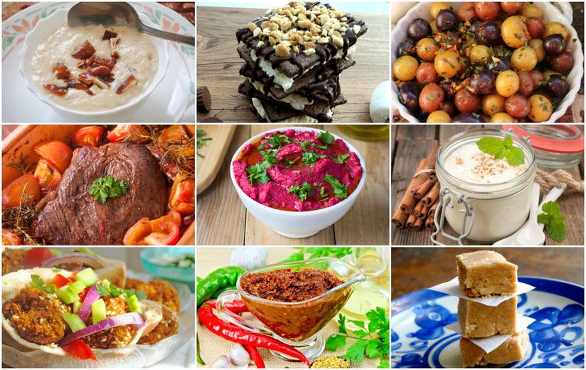 A collage of the most popular recipes of 2017