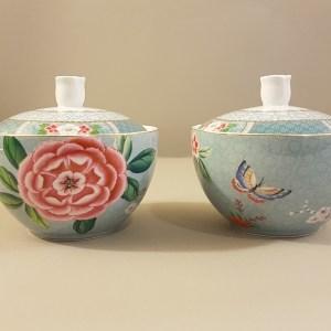 Pip Studio Zuccheriera in porcellana a fiori