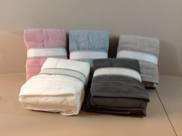 coppie asciugamani spugna assortite